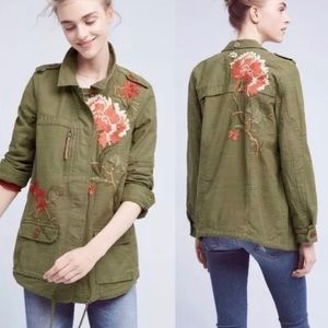 Anthropologie Hei Hei Green Embroidered Jacket